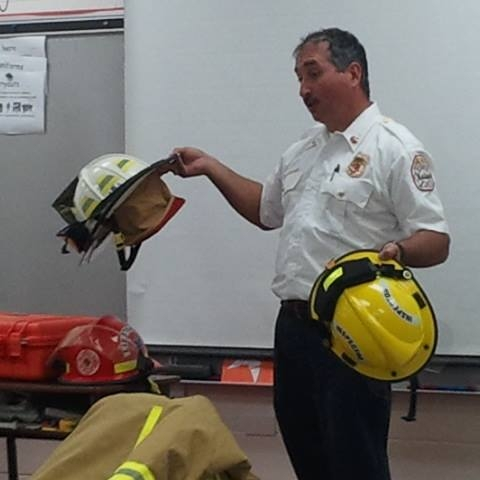 Chief Competelli teaching class